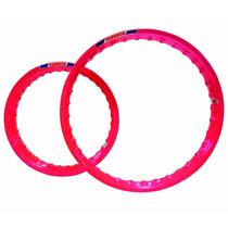 Aro Moto Aluminio Colorido Cg Titan 150 Todas Rosa Pink