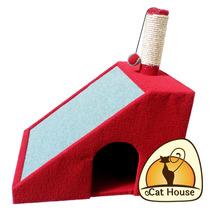 Arranhador Para Gatos Casa Com Rampa