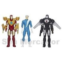 Kit 3 Bonecos Homem De Ferro Marvel Vingadores Com Armadura