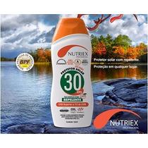 Protetor / Bloqueador Solar 120ml Repelente Fps 30 Nutriex