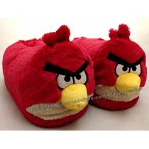 Pantufa Angry Birds Pelúcia 3d Tamanho 34/36 Original Ricsen