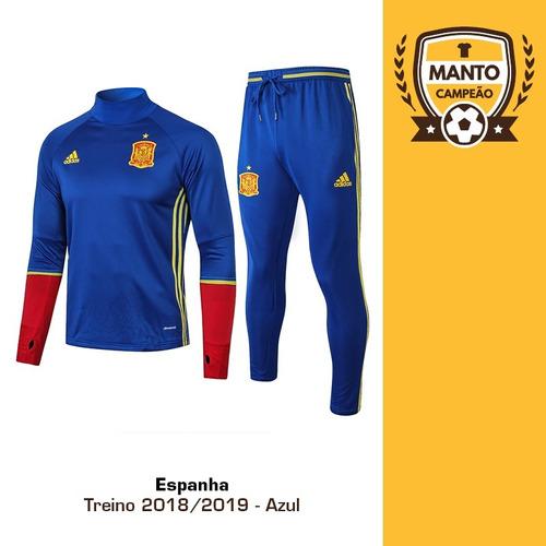 Agasalho Treino Espanha 2018 2019 Azul 2 - Completo f88c4a69b7f5e