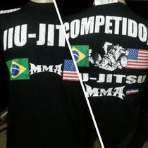 Camisa Jiujitsu Tamanhos M-g - Mma Ufc -lutas Diversas Cores