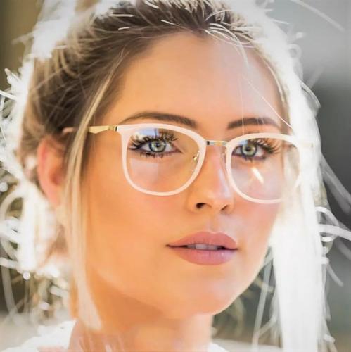 Armação Óculos De Grau Quadrada Feminina Geek Retrô 2018 Bt à venda ... afb76e52ff