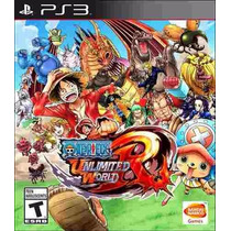 One Piece Unlimited World Red Day 1 Edition Mídia Física Ps3