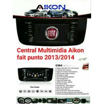 Central Multimídia Aikon Fiat Novo Punto 2013/2014/2015
