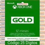 Xbox Live Gold 12 Meses Código 25 Dígitos Oficial Em 12x