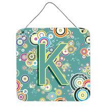 Letra K Do Círculo Teal Iniciais Do Alfabeto Parede Ou Port