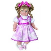 Boneca Bebê Thaily 60 Cm Com Cabelo Fala 50 Frases Anjo