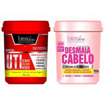 Combo Desmaia Cabelo 950g + Máscara Uti 950g - Forever Liss