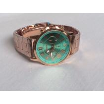 Relógio Original Importado Dourado Feminino Genebra Imperdív