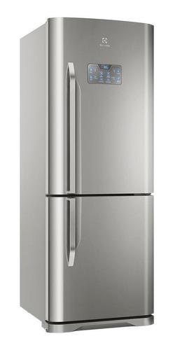 Geladeira Frost Free Electrolux Db53 Aço Inoxidável Com Freezer 454l 220v