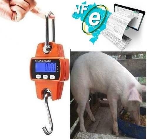 Balança Portátil Até 300 Kilo Pesar Cabra Porco Leitão Suíno