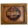 Quadro Com Moldura Madeira De Demolição Brahma Black