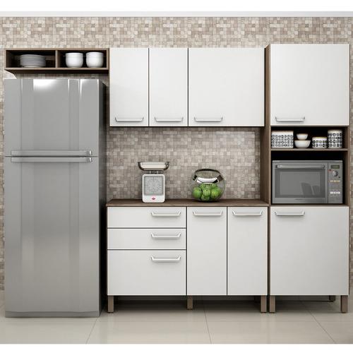 Cozinha Compacta Decari 04 Palmeira Móveis Branco