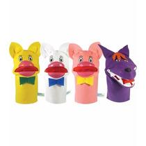 Fantoches Três Porquinhos Nina Brinquedos Educativos