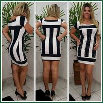 Vestido Justo Listrado Limone Ref 03100