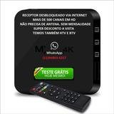 Aparelho Receptor Tv Box 4k Ultra Hd Android Pela Internet
