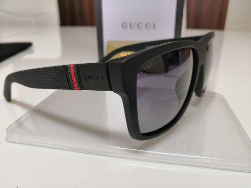 1b33c7a6a72b1 Óculos De Sol Gucci Original Gg1124 f s Acetato Preto