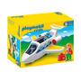 6780 Playmobil 1.2.3. Jatinho Pessoal