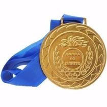 Medalha Honra Ao Mérito 36mm Com Fita Ouro Prata Bronze