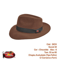 Chapéu Social Tradicional 3x Fedora (estilo Cury)