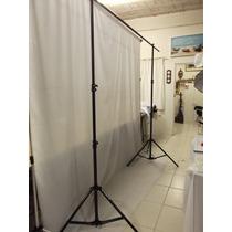 Suporte Duplo P/ Fundo Infinito 2,6x 3 Estúdio Fotográfico