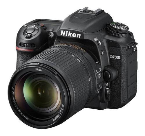 Nikon D7500 18-140mm Ed Vr Kit Dslr Preta