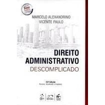 Livro Em Pdf. Direito Administrativo Descomplicado - 2015