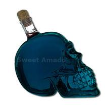 4 Crânios Garrafas Vidro 750 Ml Skull Caveira Ossos Cristal