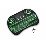 Mini Teclado Air Mouse Touch Sem Fio Tv  Wireless Com Led