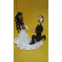Noivinhos Topo De Bolo Casamento Personalizados - Casal