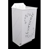 Porta Absorvente Branco 25x11x10 - Laser - Mdf - Madeira