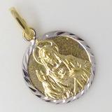 Medalha Ouro18k Pingente Sagrado Coração De Jesus Ftgratis