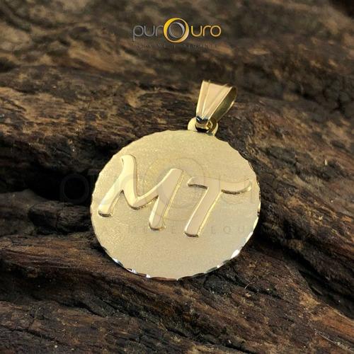 Pingente Medalha Personalizada 5,0g - Ouro 18k - 750 - R  949 en ... b8a4722de8