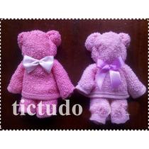 50 Ursinhos De Toalha Toalhinha Com Cartão Personalizado