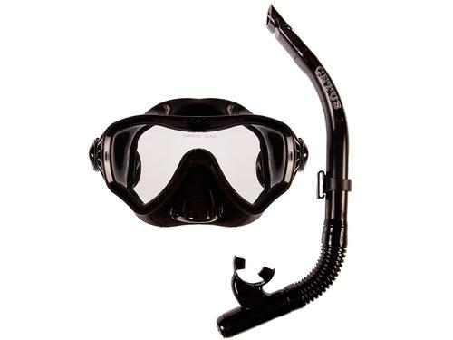 c0e430069 Kit Mergulho Silicone Máscara Snorkel C/ Válvula Cetus - Top. R$ 117.39