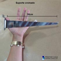 Suporte Faca 30cm Painel Canaletado (par) (cromado)