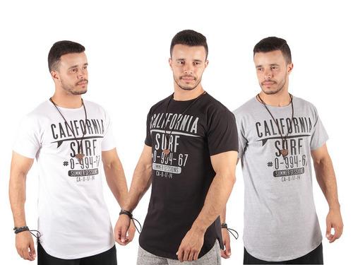 Kit C 10 Camisas Blusa Masculina Longline Estampada Atacado. R  223.89 10dcb304ba8