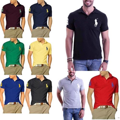 Kit 6 Camiseta Camisa Gola Polo Masculina Revenda Atacado! R  124.49 1634a810198c9