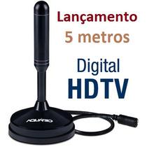 Antena Digital Interna Dtv-150 Aquário Sinal Uhf Hdtv P/ Tv