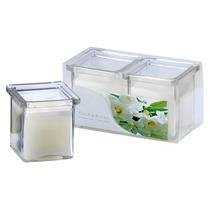 Kit Com 2 Velas Em Vidro Aromatizadas - Gardênia