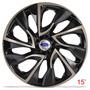 Calota Jogo Aro 15 Gold Ds4 Ford New Fiesta 2014/... 4peças