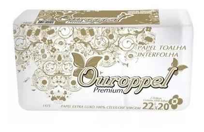 5000 Folhas Interfolha Ouropel Luxo 22,5x20 P/ Toalheiro