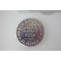 Moeda Antiga Brasil - 2.000 Reis - 1907 - Prata Xx Gramas