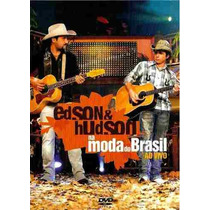 Dvd Edson & Hudson - Na Moda Do Brasil Ao Vivo - Dvd Slim