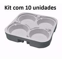 Kit Com 10 Bandejas Em Isopor Para Marmitex N8