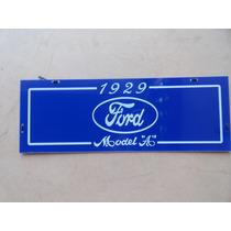 Placa Ornamental Ford 1929 Fordinho Modelo A