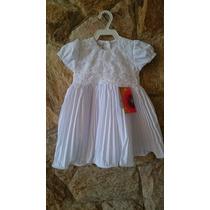 Vestido Infantil Festa / Batizado Rendas E Perolas Tam 1,2,3