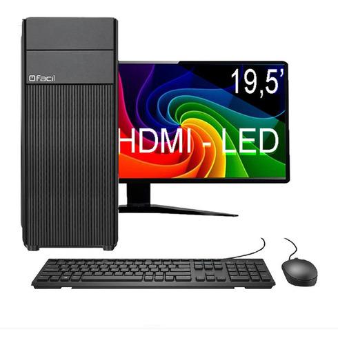 Computador Completo Fácil Intel I3 04 Gb Ddr3 Hd 500 Gb
